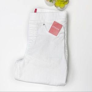 SPANX White Distressed Skinny Jeans size Small